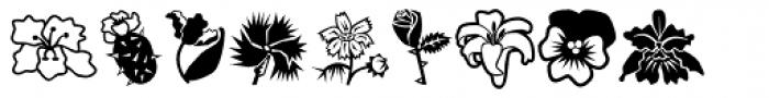 Mini Pics Lil Flowers Font LOWERCASE