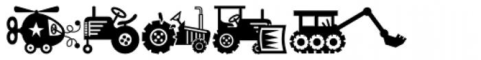 Mini Pics Lil Vehicles Font OTHER CHARS