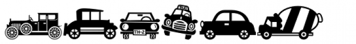 Mini Pics Lil Vehicles Font UPPERCASE