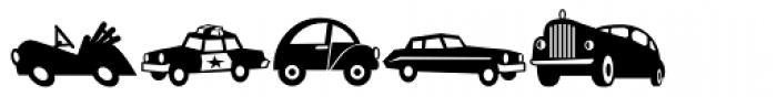 Mini Pics Lil Vehicles Font LOWERCASE