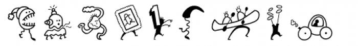 Mini Pics Mardi Gras Hop Font UPPERCASE