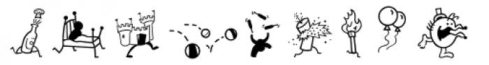 Mini Pics Mardi Gras Hop Font LOWERCASE