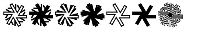 Mini Pics Snowflakes Font OTHER CHARS
