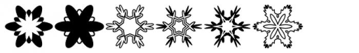Mini Pics Snowflakes Font LOWERCASE