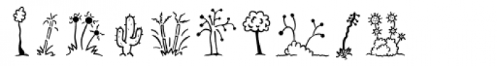 Mini Pics Uprooted Twig Font OTHER CHARS