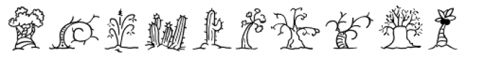 Mini Pics Uprooted Twig Font LOWERCASE