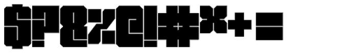 Miniblock Font OTHER CHARS