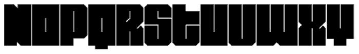 Miniblock Font UPPERCASE