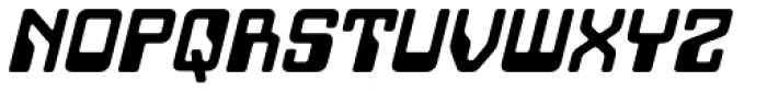 Minicomputer Heavy Italic Font UPPERCASE