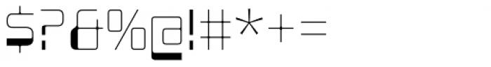 Minicomputer Ultra Light Font OTHER CHARS