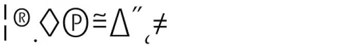 Minimala Thin Expert Font OTHER CHARS