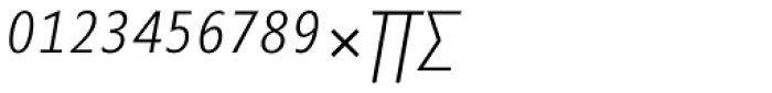 Minimala Thin Italic Expert Font UPPERCASE