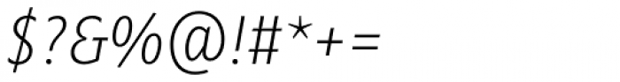 Minimala Thin Italic TF Font OTHER CHARS