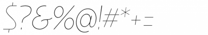 Minimalista Thin Italic Font OTHER CHARS