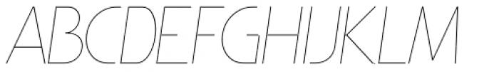 Minimalista Thin Italic Font UPPERCASE