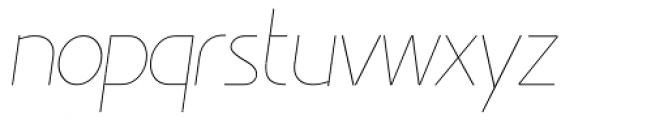Minimalista Thin Italic Font LOWERCASE