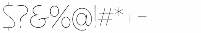 Minimalista Thin Font OTHER CHARS