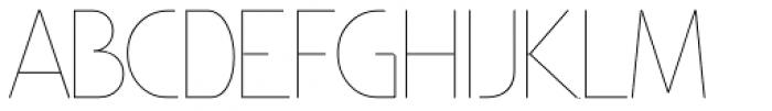 Minimalista Thin Font UPPERCASE
