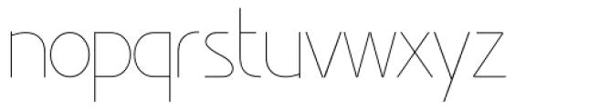 Minimalista Thin Font LOWERCASE