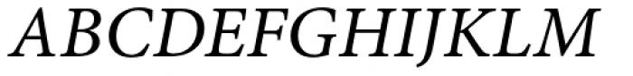 Minion Pro Caption Italic Font UPPERCASE