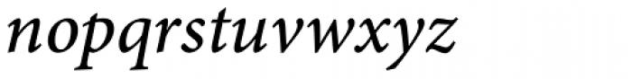 Minion Pro Caption Medium Italic Font LOWERCASE