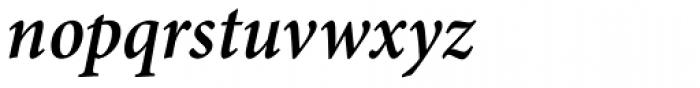 Minion Pro Cond SemiBold Italic Font LOWERCASE