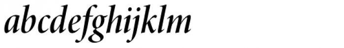 Minion Pro Display Cond SemiBold Italic Font LOWERCASE