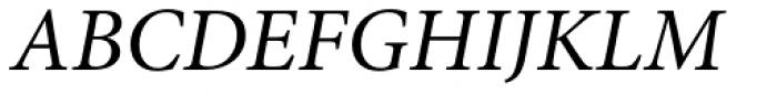 Minion Pro Italic Font UPPERCASE