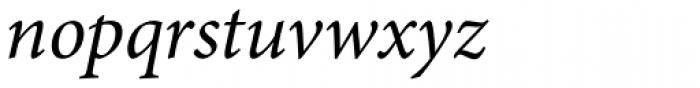 Minion Pro Italic Font LOWERCASE