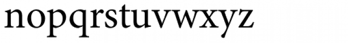 Minion Pro Regular Font LOWERCASE