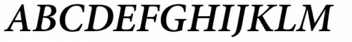Minion Pro SemiBold Italic Font UPPERCASE