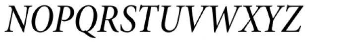 Minion Pro SubHead Cond Medium Italic Font UPPERCASE