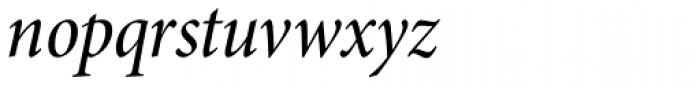 Minion Pro SubHead Cond Medium Italic Font LOWERCASE
