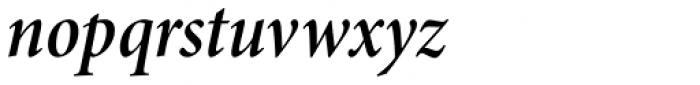 Minion Pro SubHead Cond SemiBold Italic Font LOWERCASE