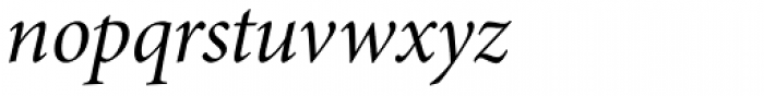 Minion Pro SubHead Italic Font LOWERCASE