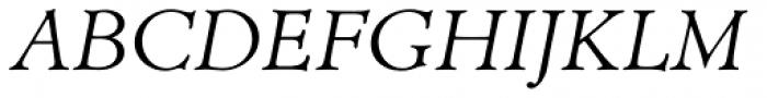 Minister EF Light Italic Font UPPERCASE