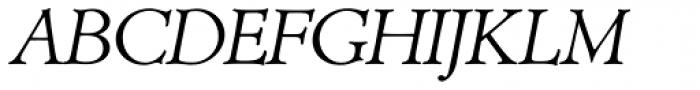 Minister SH Light Italic Font UPPERCASE