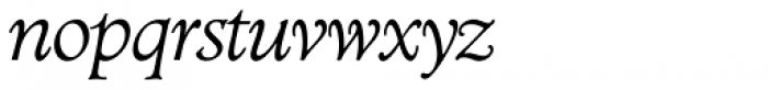 Minister SH Light Italic Font LOWERCASE