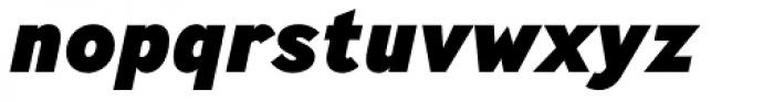 Ministry Heavy Italic Font LOWERCASE