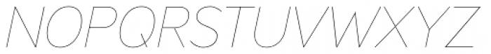 Ministry Thin Italic Font UPPERCASE