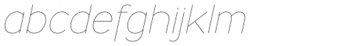 Ministry Thin Italic Font LOWERCASE