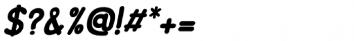 Minou Bold Italic Font OTHER CHARS