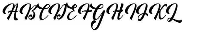 Minthas Script Regular Font UPPERCASE