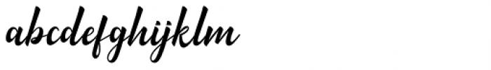 Minthas Script Regular Font LOWERCASE