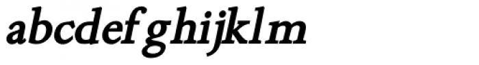 Minutia Bold Italic Font LOWERCASE
