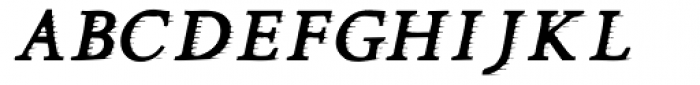 Minutia Engraved Font UPPERCASE