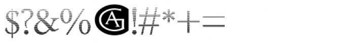 Minutia Fade Font OTHER CHARS