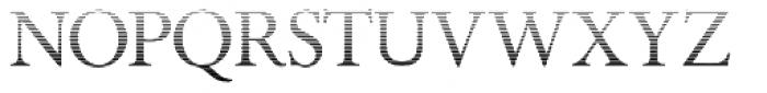 Minutia Fade Font UPPERCASE