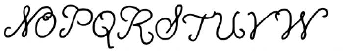 Mirabelle Schoolbook Font UPPERCASE