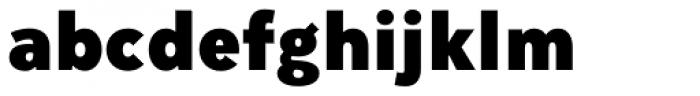 Mirai Black Font LOWERCASE